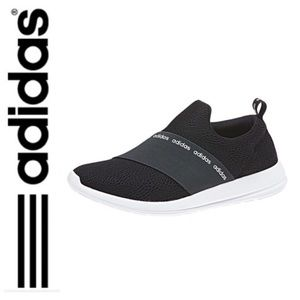 NWT Adidas cloudfoam refine slip on shoes black